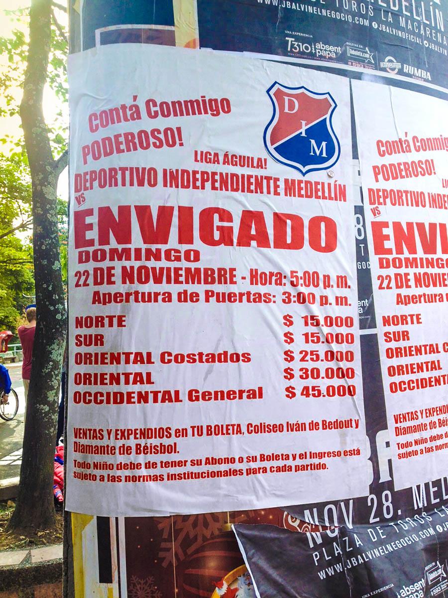 Poster for Envigado versus Medellin