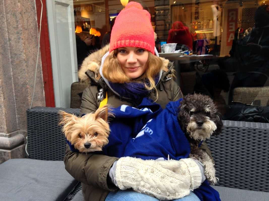 Staying warm in Malmo Sweden