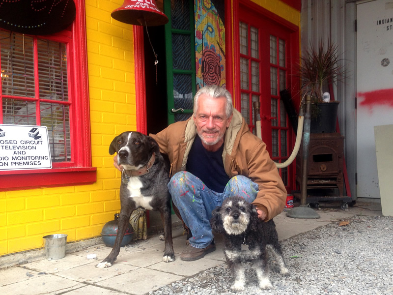Willie with Dr Bob and George in the Bywater New Orleans