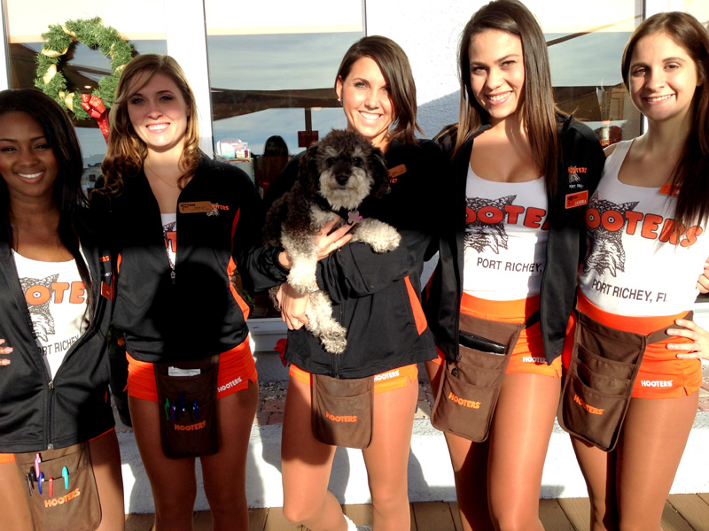 Willie with the Hooters of Port Richey Florida Staff