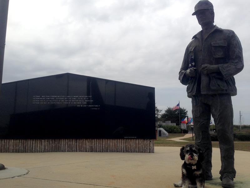 Willie stops at Battleship Memorial Park in Mobile Alabama