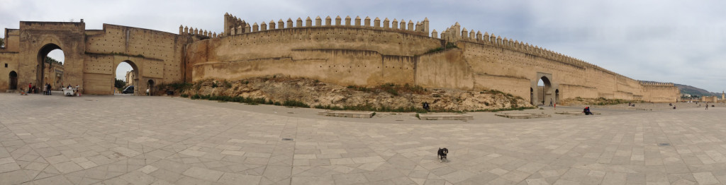 Willie at the old city wall of Fes Morocco