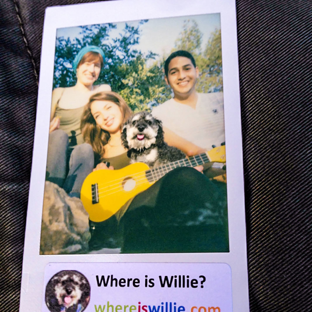 Polaroid of Willie and his foreign friends in Malaga Spain
