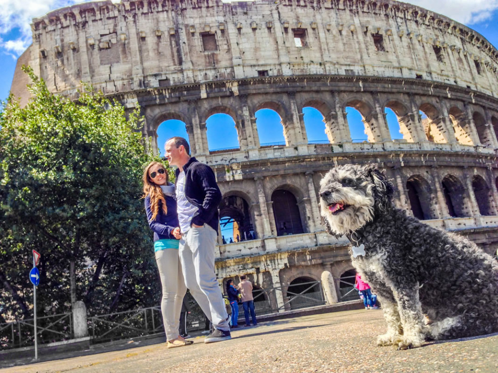 Willie at The Colosseum in Rome Italy