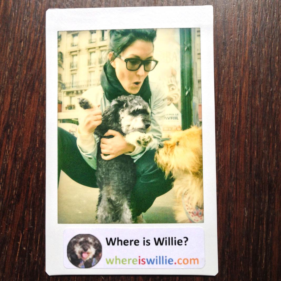 Polaroid of Willie with Anna & Oscar in Paris France