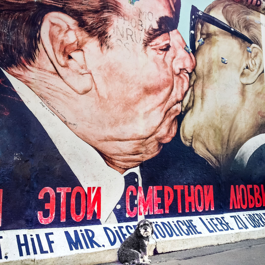 Willie at the Berlin Wall East Side Gallery in Berlin Germany