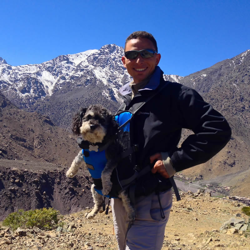 Willie hikes up the Atlas Mountains in Imlil Morocco and gets a ride with Berber mountain guide Hassan