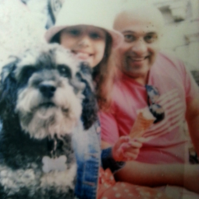 Polaroid of Willie with Jinder and his daughter at Trevi Fountain in Rome Italy