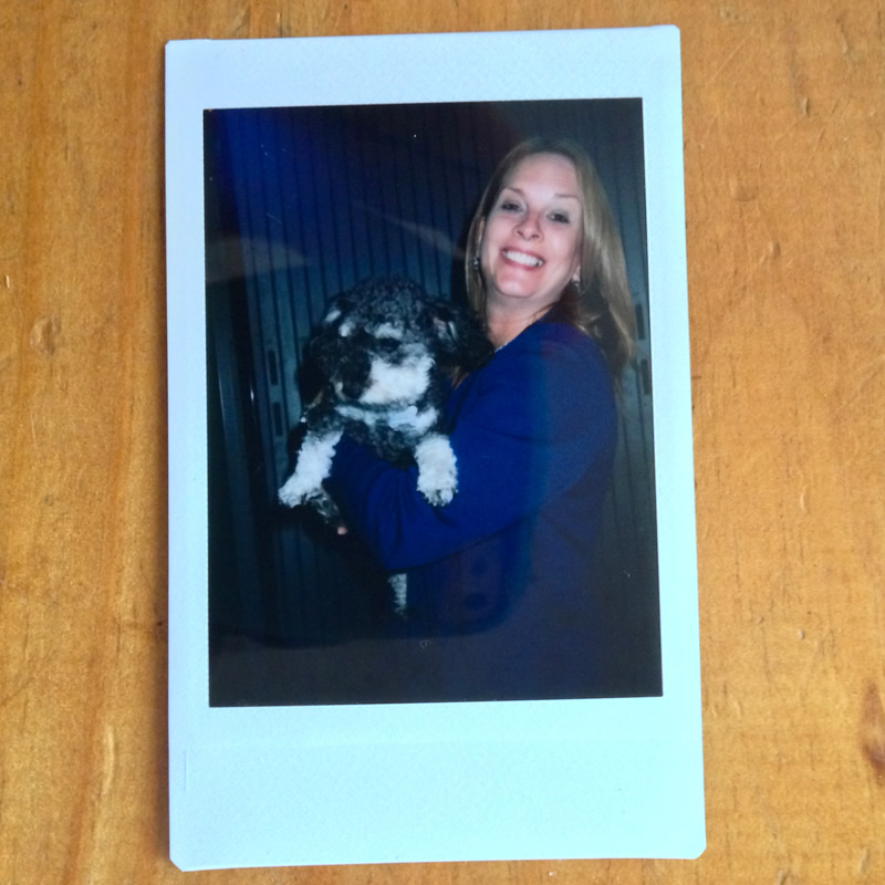 Polaroid of Willie at Tampa International Airport