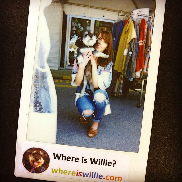 Polaroid of Willie in Collingwood Canada