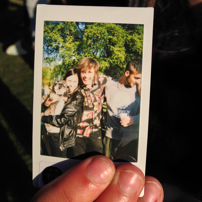Polaroid of Willie in Fælledparken Copenhagen Denmark