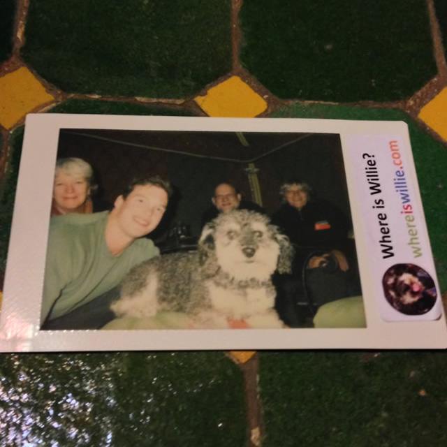 Polaroid of Willie and an Australian family in El Jadida Morocco