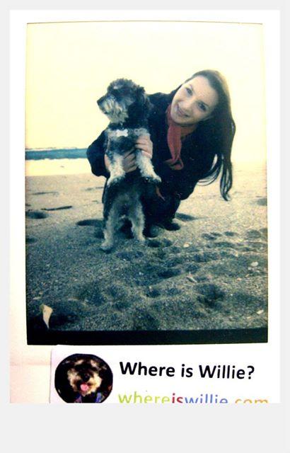 Polaroid of Willie in Playa de la Malagueta Spain