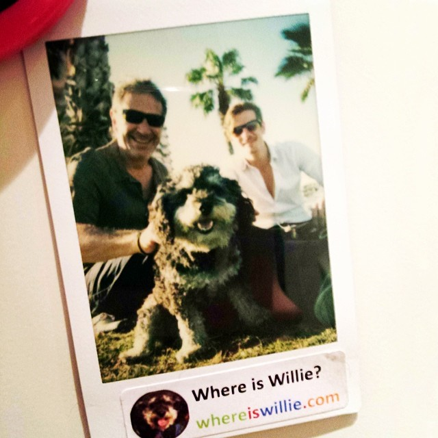 Polaroid of Willie and his new friends in Malaga Spain