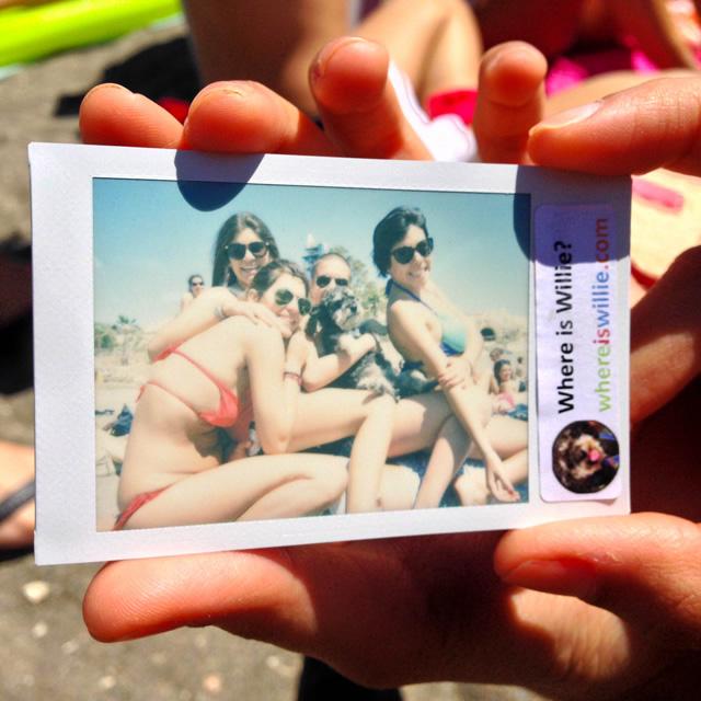 Polaroid of Willie in Playa El Palo Malaga Spain