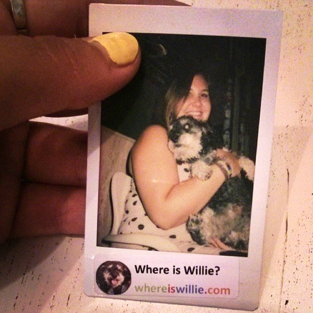 Polaroid of Willie in Malaga Spain