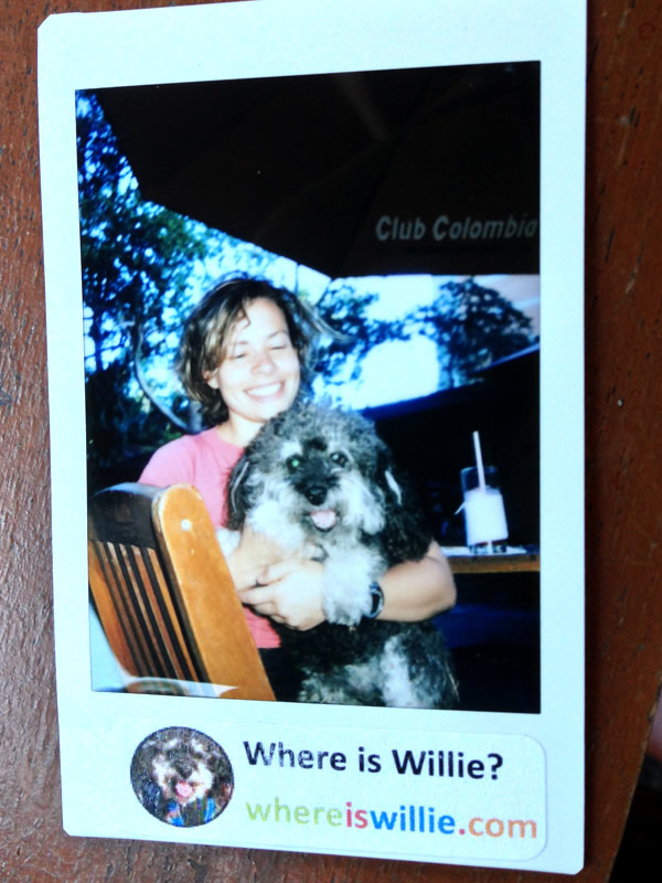 Polaroid of Willie in Envigado with Antonella