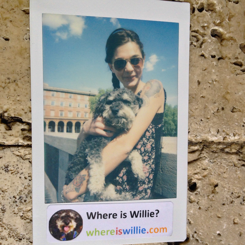 Polaroid of Willie in Rome Italy with Julia