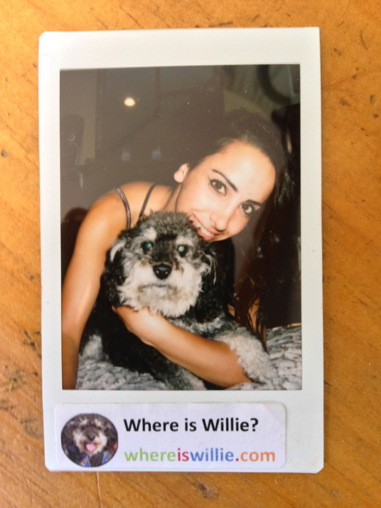 Polaroid of Willie and Suzanna in Wasaga Beach