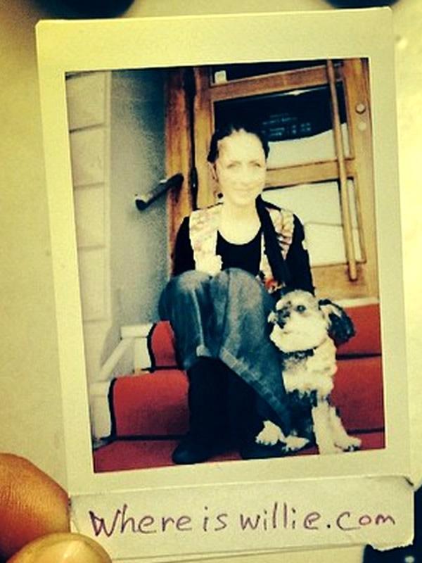 Polaroid of Willie in Malmo Sweden