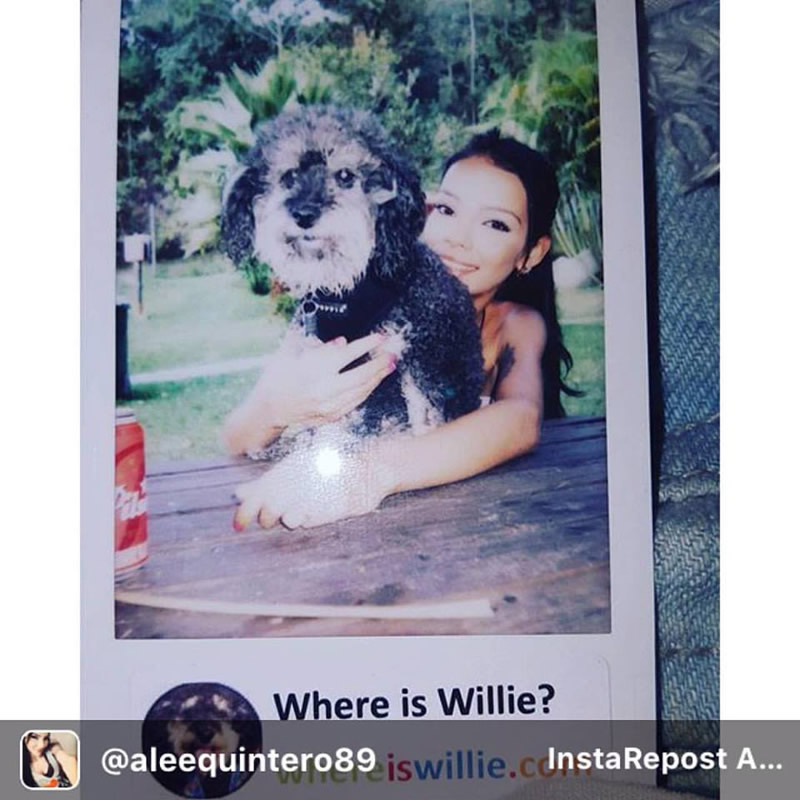 Polaroid of Willie and Alee in Envigado Colombia