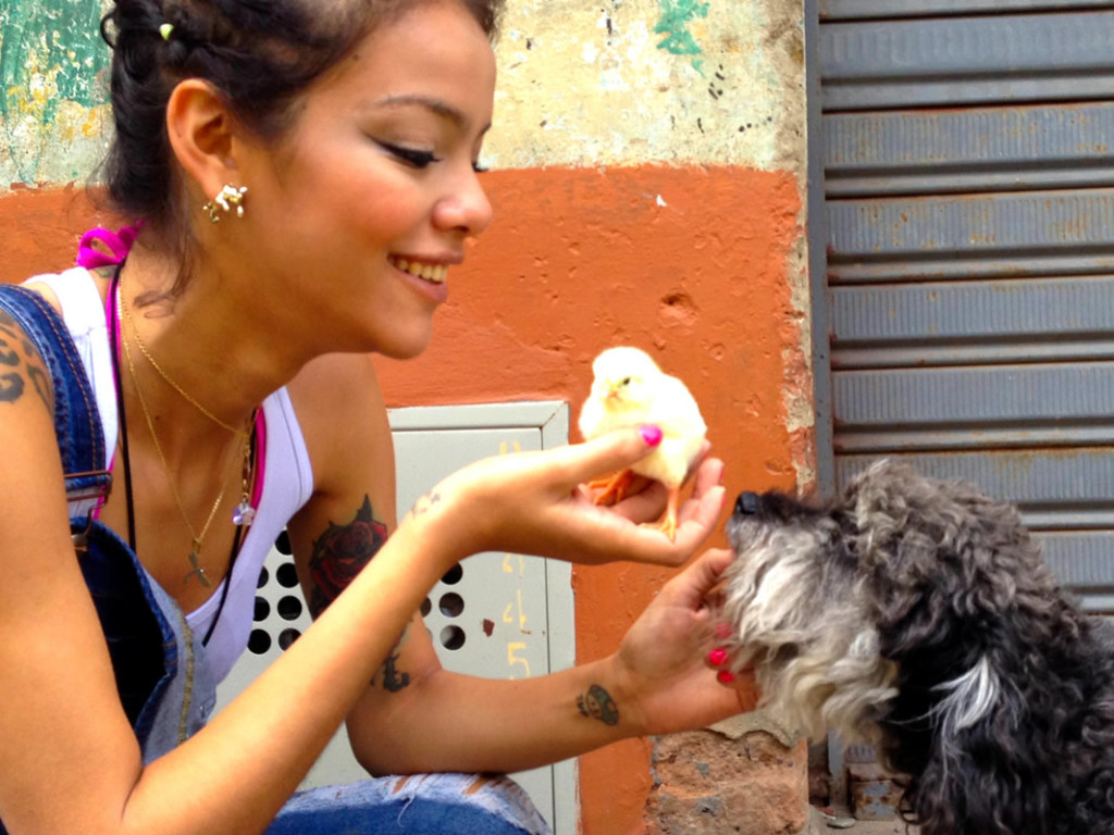 willie meets a pollito in Cocorna Colombia with Alee