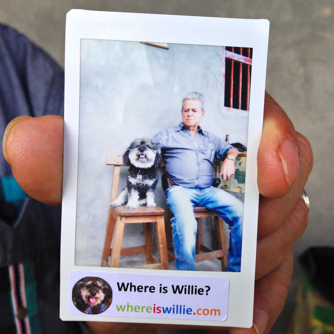 Willie's polaroid with Alee's grandfather