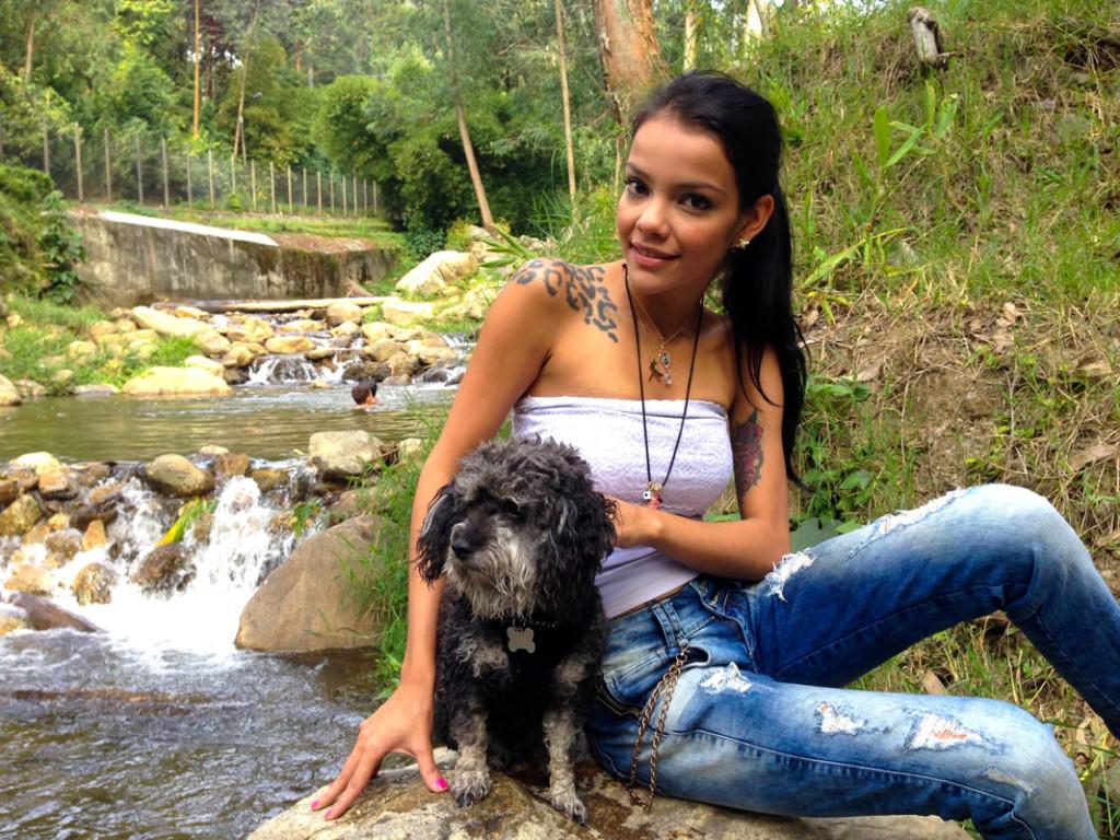 willie in Parque El Salado Colombia with Alee