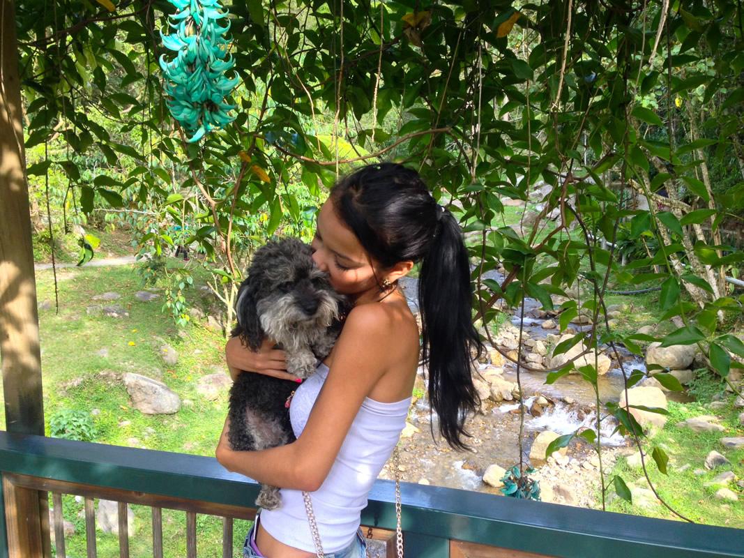 willie in Parque El Salado with Alee