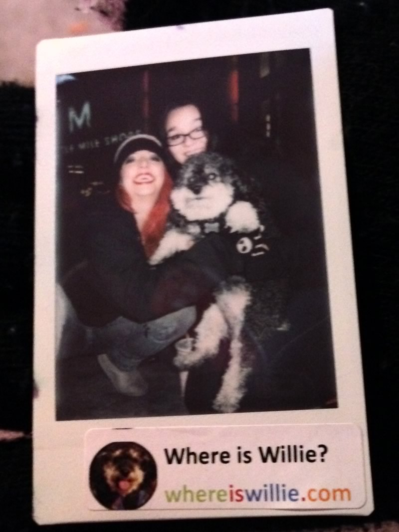 Polaroid photo with Willie and his new friends in Las Vegas