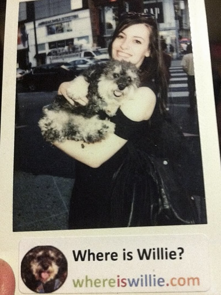 Polaroid of Willie with his new friend in Hollywood, CA