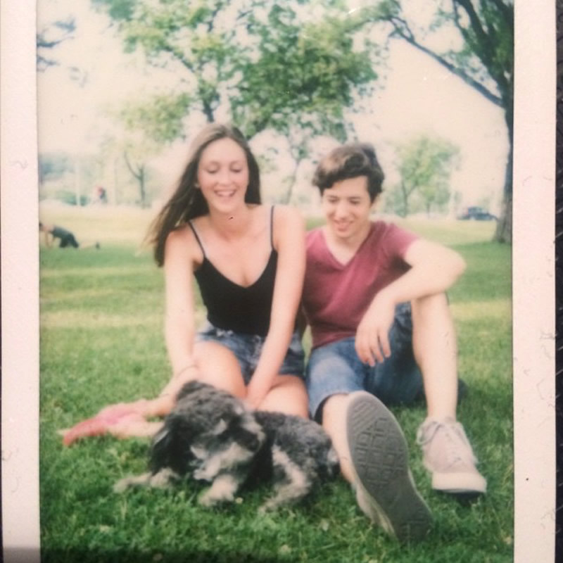 Polaroid of Willie in Toronto Canada with Cayla