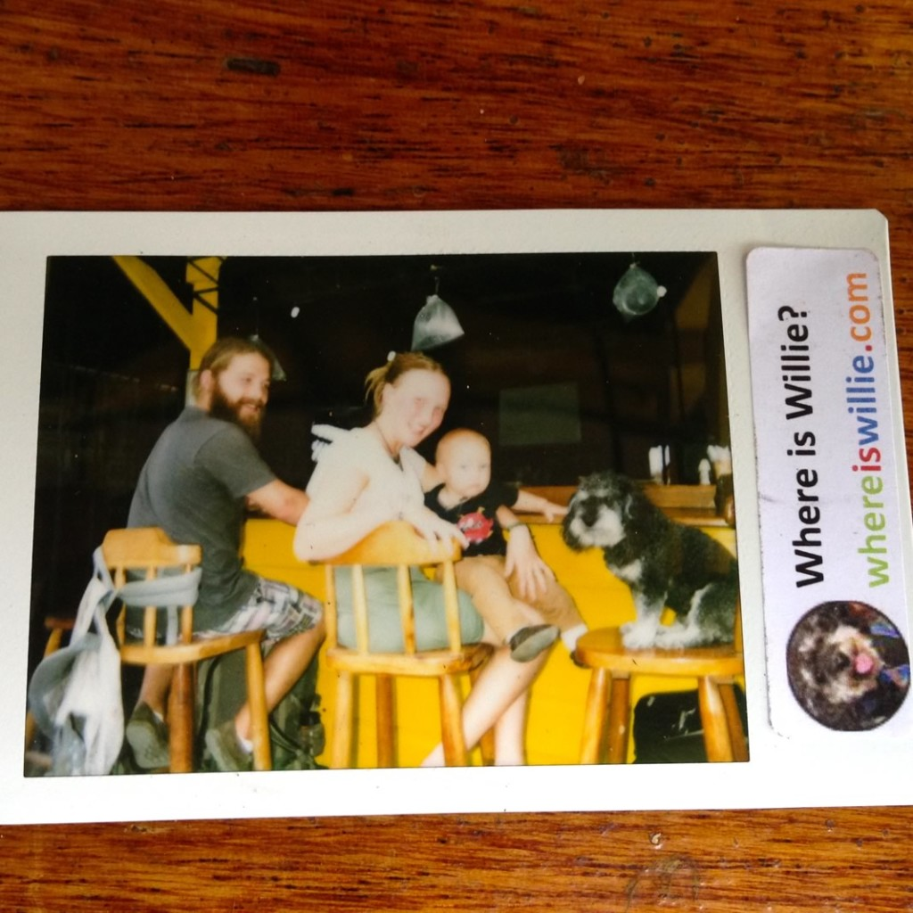 Polaroid of Willie in San Ignacio Belize
