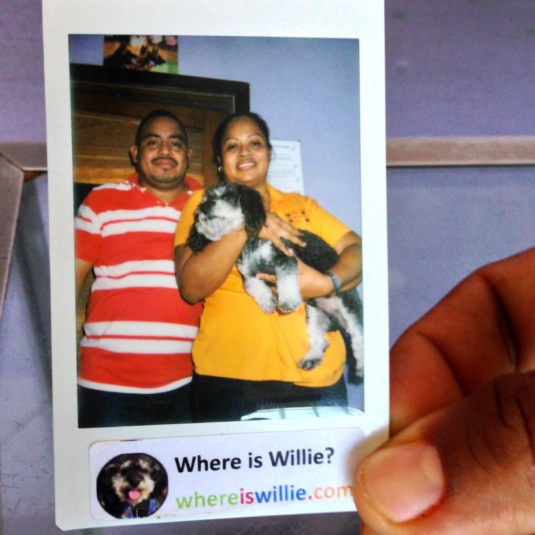 Polaroid of Willie in San Ignacio Belize