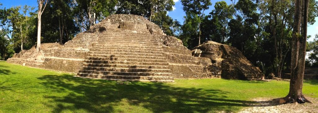 Willie at Cahal Pech Mayan Pyramid Ruins in San Ignacio Belize