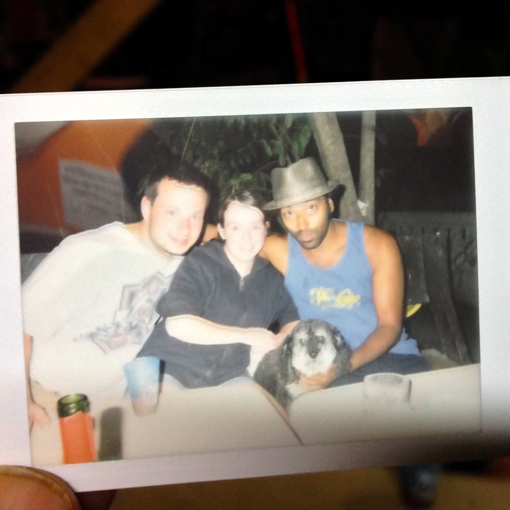Polaroid of Willie in Hopkins Belize