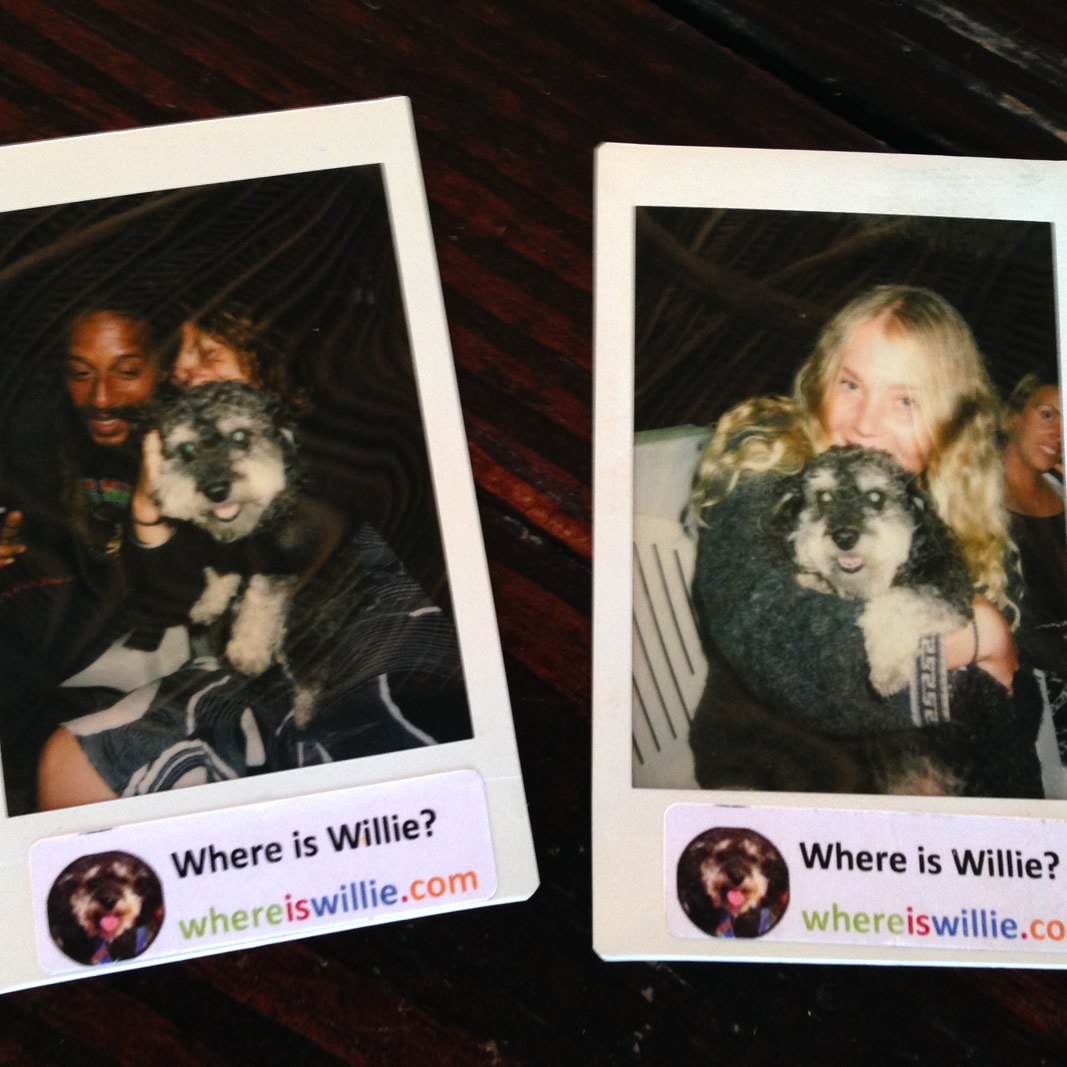 Polaroid of Willie in Hopkins Belize