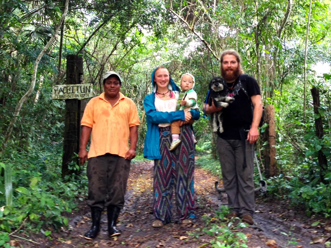 Willie takes a hike with friends in San Antonio Belize