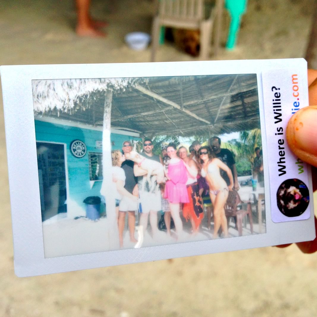 Polaroid of Willie at Bread & Butter Caye Belize