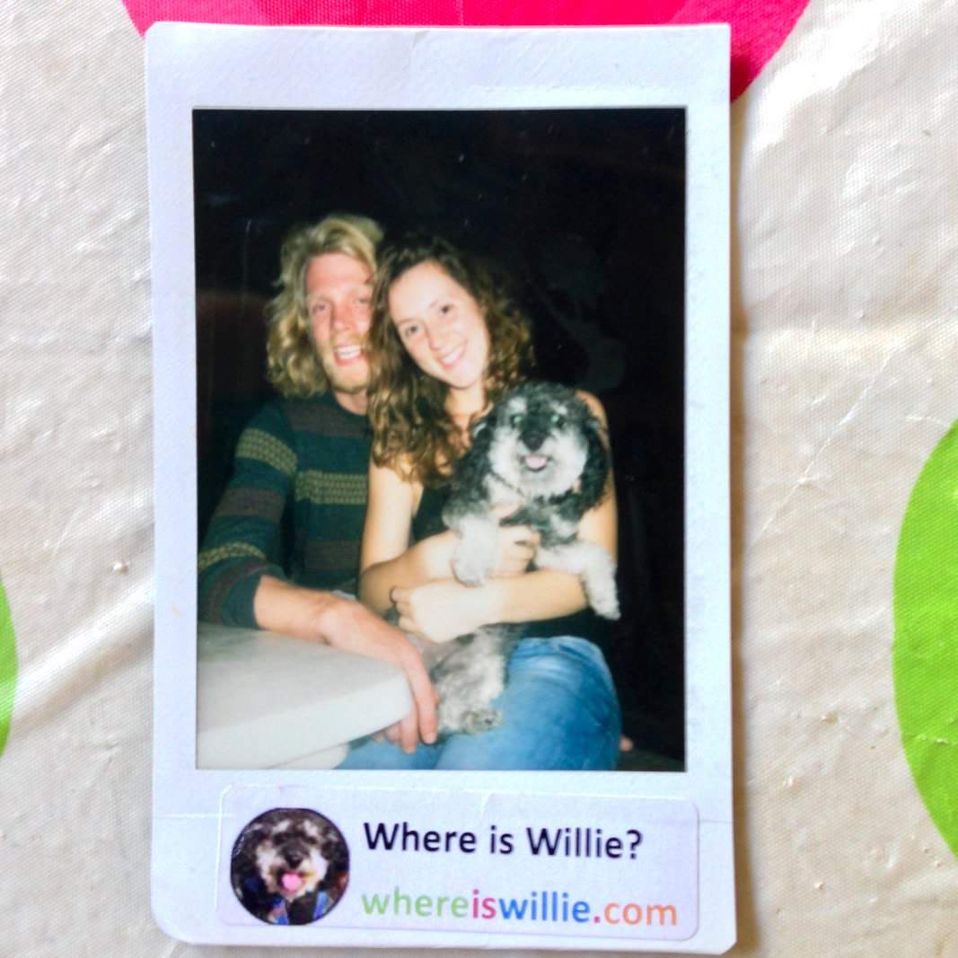 Polaroid of Willie and his german friends