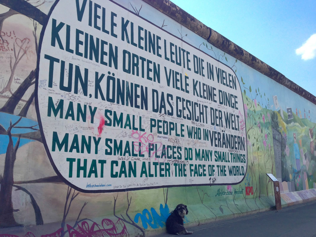 Willie at the East Side Gallery in Berlin Germany