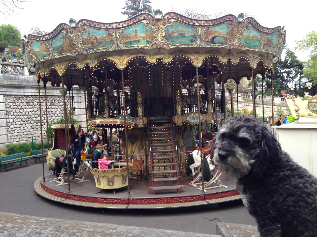 Willie at the Carousel below the Basilica of the Sacred Heart (Sacré-Cœur) in Paris France