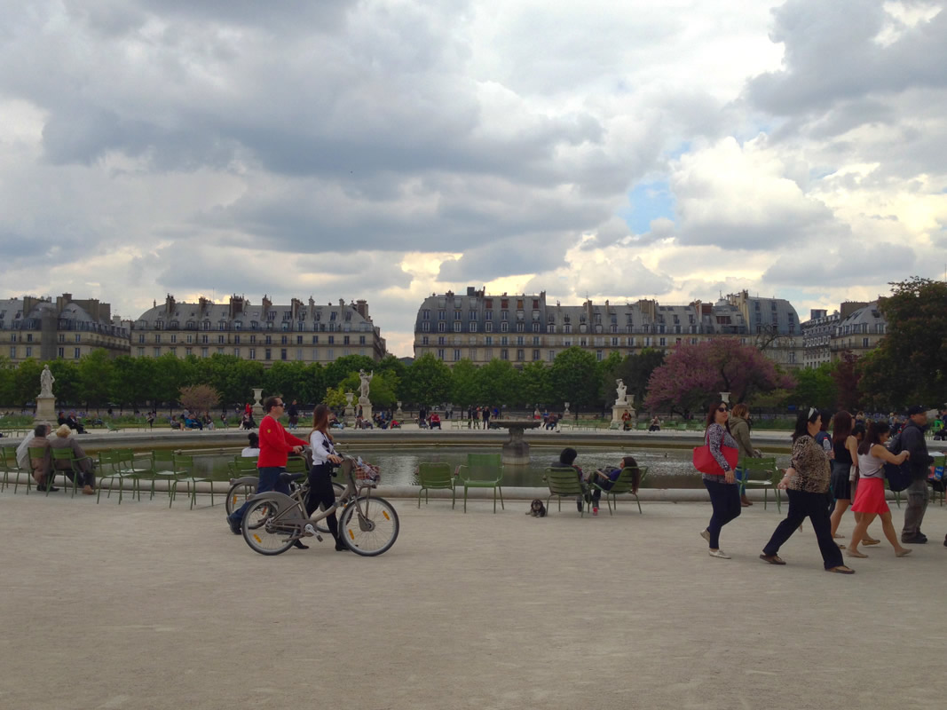 Willie at Jardin des Tuileries - Grand Bassin Rond in Paris France