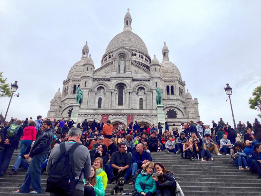 Willie at the The Basilica of the Sacred Heart (Sacré-Cœur) in Paris France