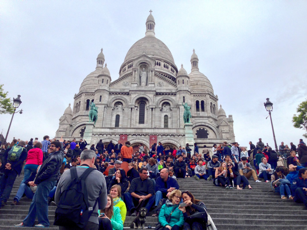 Willie at the steps of the Sacre Coeur in Paris France