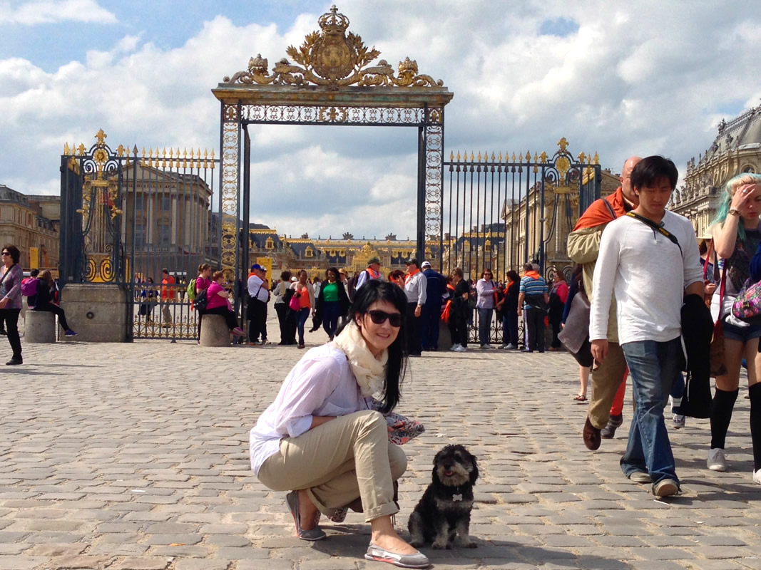 Willie with Anna in the Palace of Versailles France
