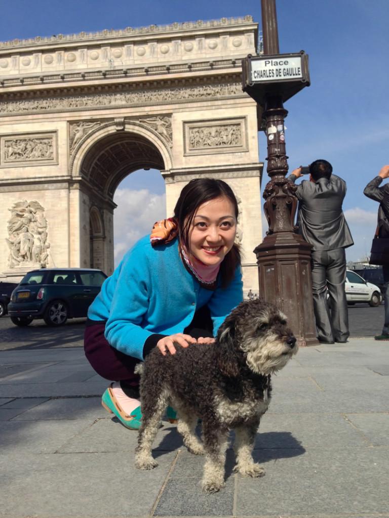 Willie at The Arc de Triomphe de l'Étoile in Paris France