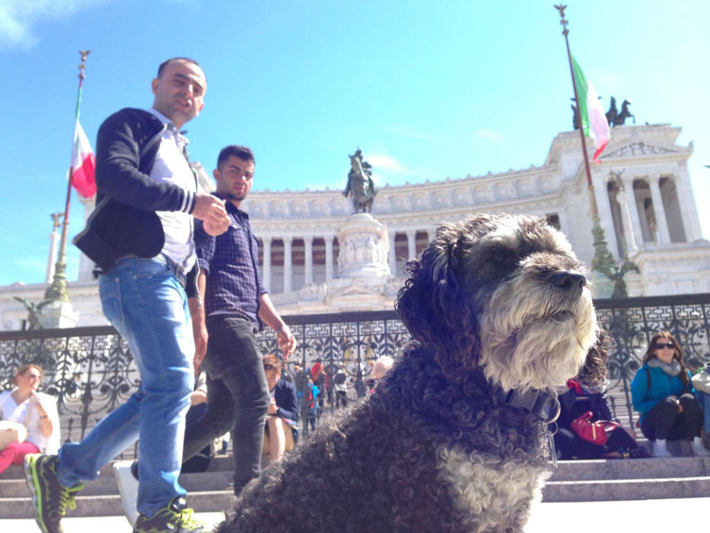 Willie in front of the Altar of the Fatherland - Altare della Patria in Rome Itlay