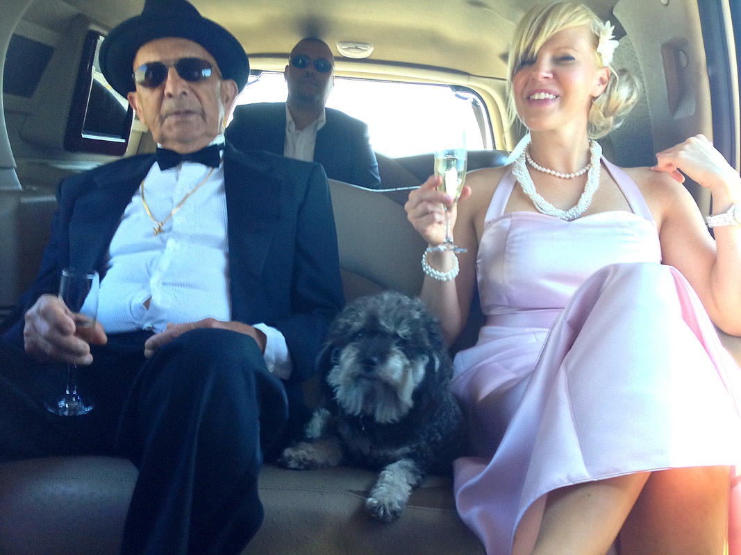 Willie rides a limousine to Jonny and Jen's wedding