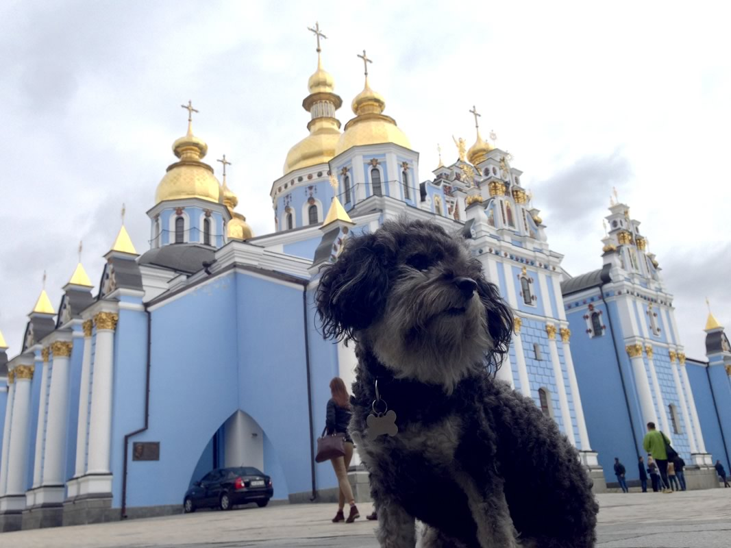 willie at a church in kiev
